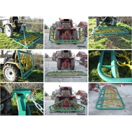 Grass Harrow Combination Land Leveller - Mini Harrow 1 Meter DLGH004