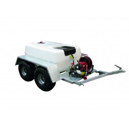 400 Litre Pro Trailer Sprayer - 12L/min Spray Marshal Pump - 30m Hose Reel