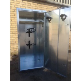 Extra Wide 2 Saddle Tack Locker - Galvanised - standard